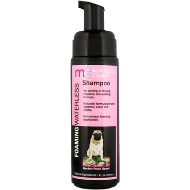 Miracle Care, Miracle Coat, Foaming Waterless Shampoo, For Dogs, Garden Fresh Scent, 7 fl oz (207 ml)