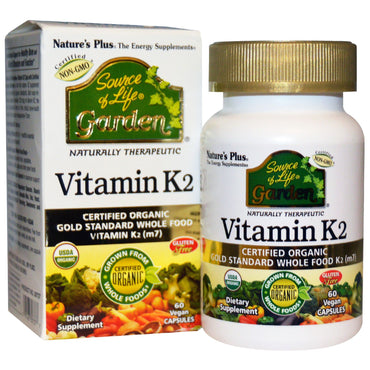 Nature's Plus, Source of Life, Garden, Vitamin K2, 60 Vegan Caps
