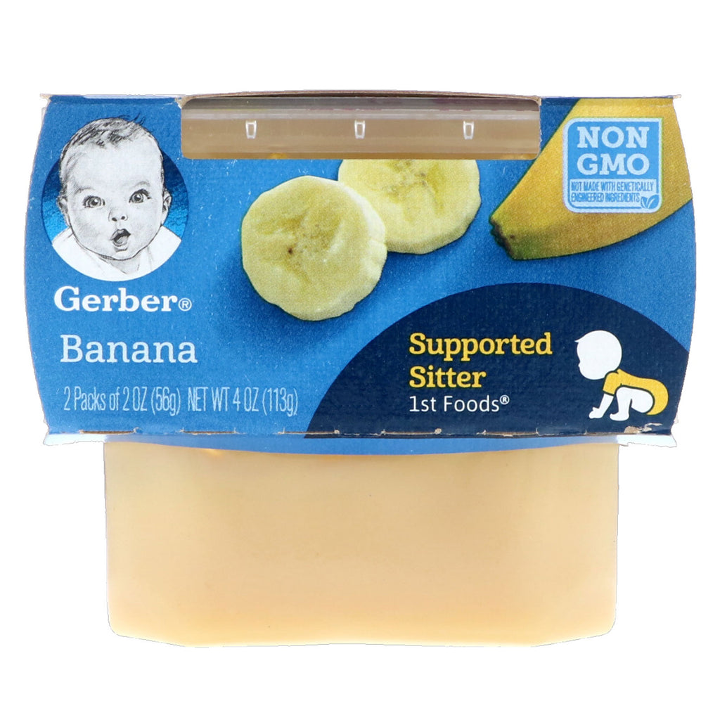 Gerber 1st Foods Banana 2 Packs 2 oz (56 g) Each