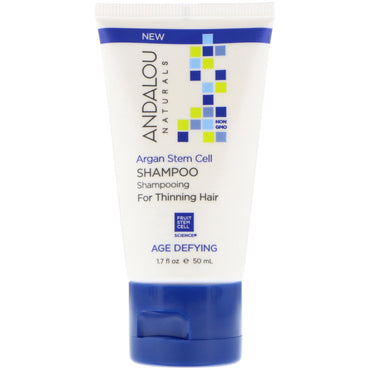 Andalou Naturals, Shampoo, Age Defying, For Thinning Hair, Argan Stem Cell, 1.7 fl oz (50 ml)