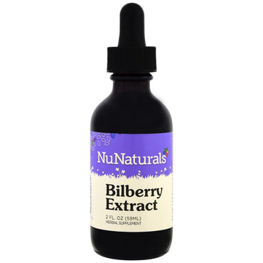 NuNaturals, Bilberry Extract, 2 fl oz (59 ml)