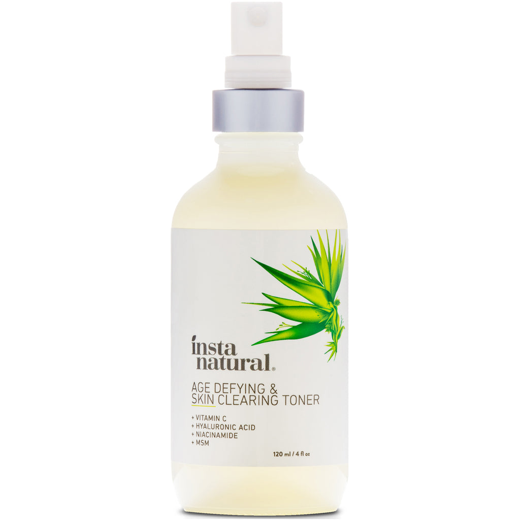 InstaNatural, Age-Defying & Skin Clearing Facial Toner for Acne & Oily Skin, 4 fl oz (120 ml)