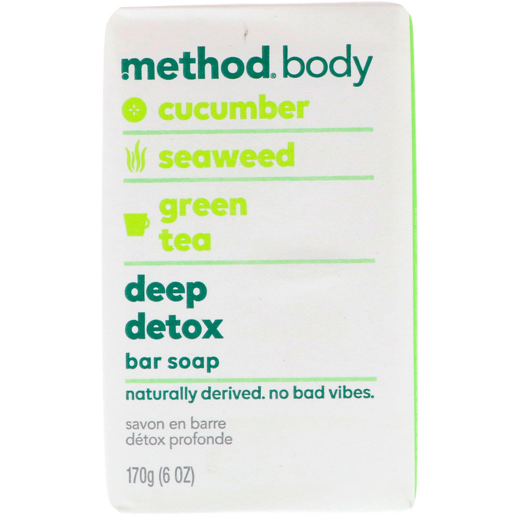 Method, Body, Deep Detox, Bar Soap, 6 oz (170 g)