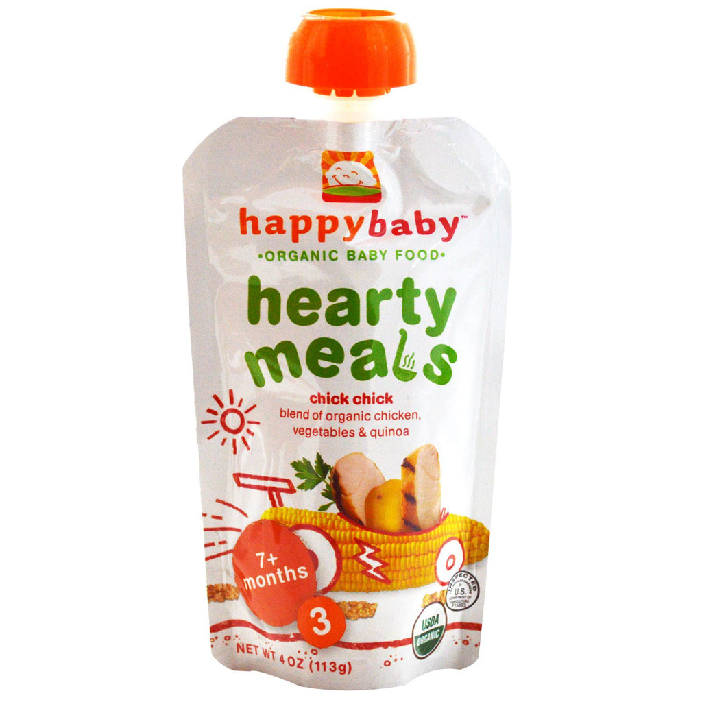 Nurture Inc. (Happy Baby) Organic Baby Food Hearty Meals Chick Chick Stage 3 4 oz (113 g)