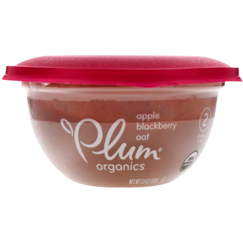 Plum Organics Baby Bowl Stage 2 Apple Blackberry & Oat 3.6 oz (102 g)