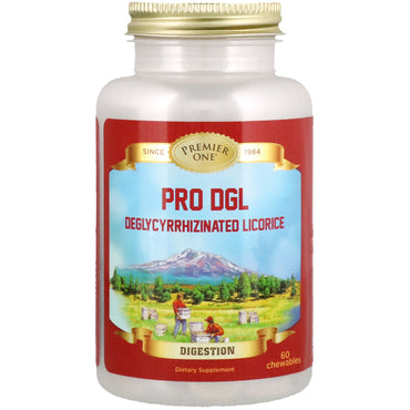 Premier One, Pro DGL Deglycyrrhizinated Licorice, 60 Chewables