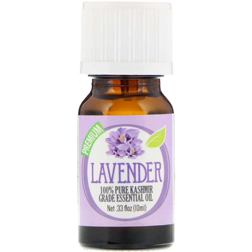 Healing Solutions, 100% Pure Kashmir Grade Essential Oil, Lavender, 0.33 fl oz (10 ml)