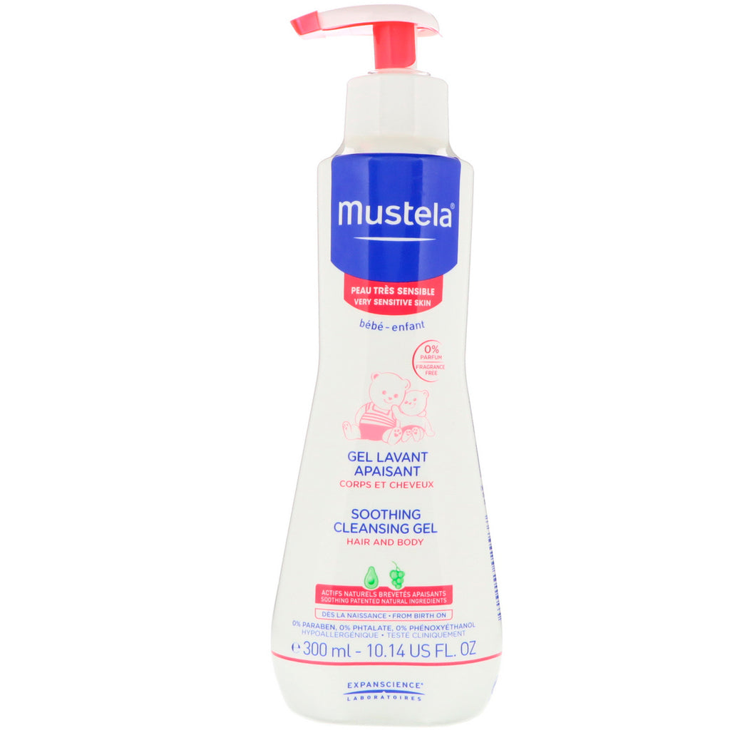 Mustela, Baby, Soothing Cleansing Gel, Very Sensitive Skin, 10.14 fl oz (300 ml)