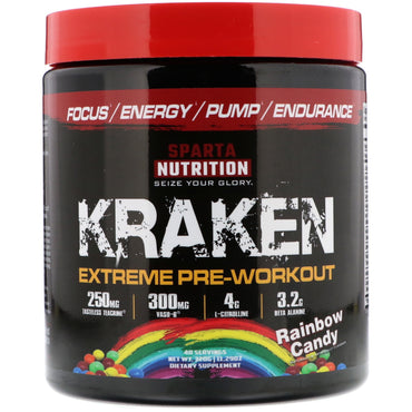 Sparta Nutrition, Kraken Pre-Workout, Rainbow Candy, 11.29 oz (320 g)