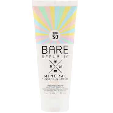 Bare Republic Mineral Sunscreen Lotion Baby SPF 50 3.4 fl oz (100 ml)