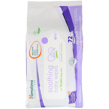 Himalaya, Soothing Baby Wipes, Alcohol Free, 72 Wipes