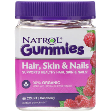 Natrol Gummies Hair Skin & Nails Raspberry 90 Count