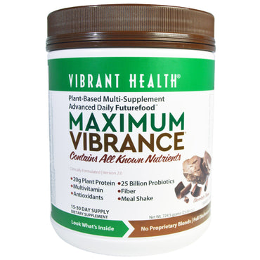 Vibrant Health, Maximum Vibrance, Version 2.0, Chocolate Chunk, 25.56 oz (724.5 g)