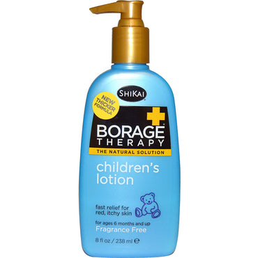 Shikai Borage Therapy Children's Lotion Fragrance Free 8 fl oz (238 ml)