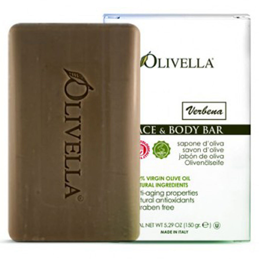 Olivella, Face & Body Bar, Verbena, 5.29 oz (150 g)