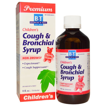 Boericke & Tafel, Premium Children's Cough & Bronchial Syrup, Cherry Flavor, 8 fl oz