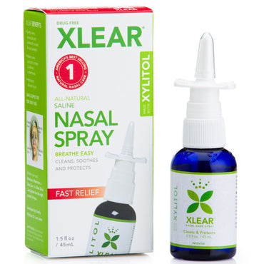 Xlear Xylitol Saline Nasal Spray Fast Relief 1.5 fl oz (45 ml)