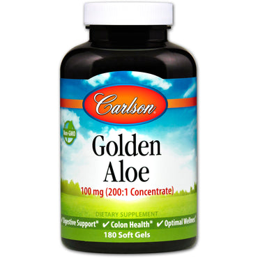 Carlson Labs, Golden Aloe, 100 mg, 180 Soft Gels