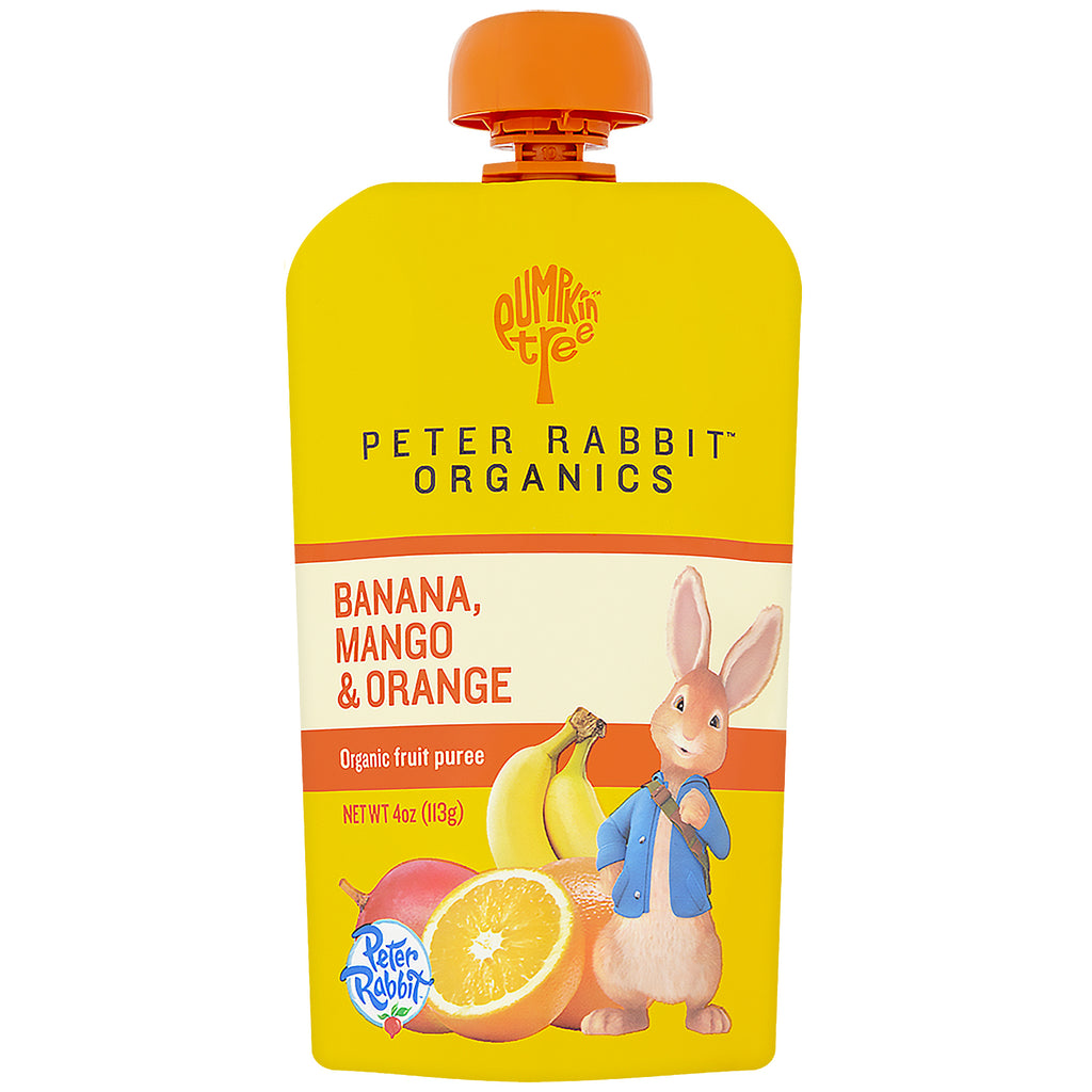 Pumpkin Tree Snacks Peter Rabbit Organics Organic Fruit Puree Banana Mango & Orange 4 oz (113 g)