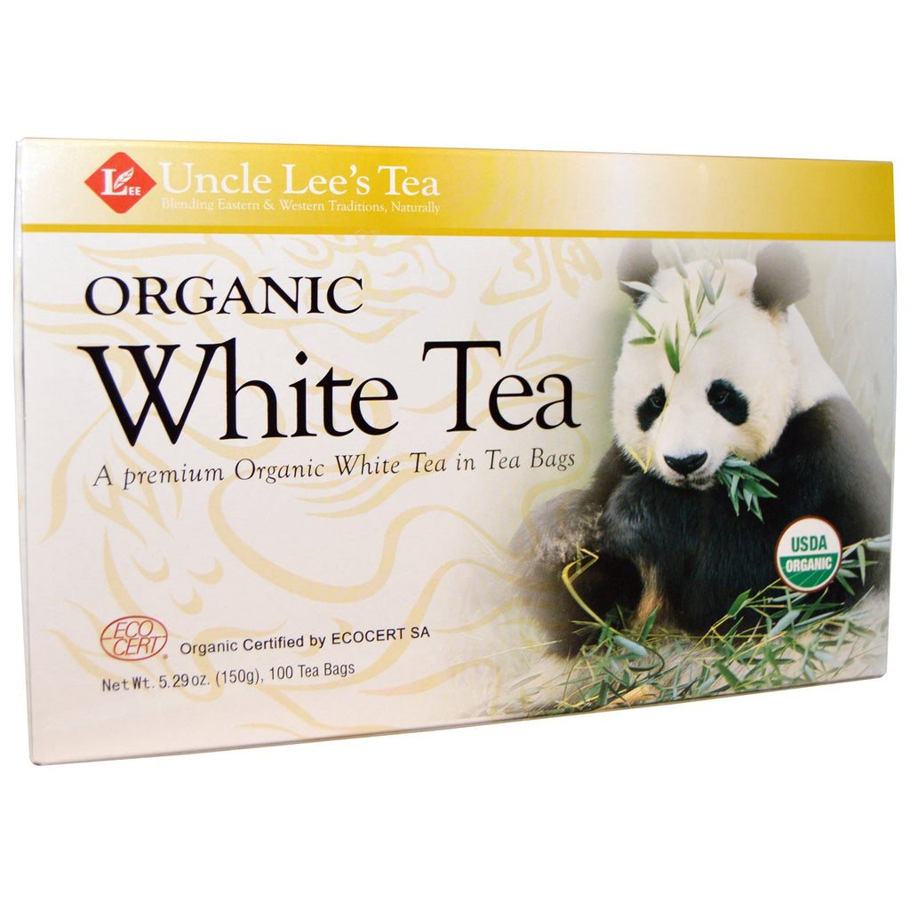Uncle Lee's Tea, Organic White Tea, 100 Tea Bags, 5.29 oz (150 g)