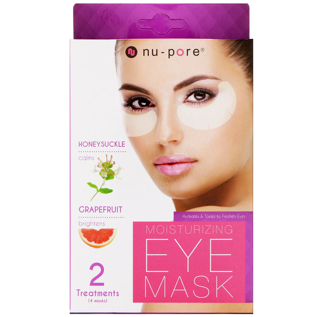 Nu-Pore, Moisturizing Eye Mask, 4 Masks
