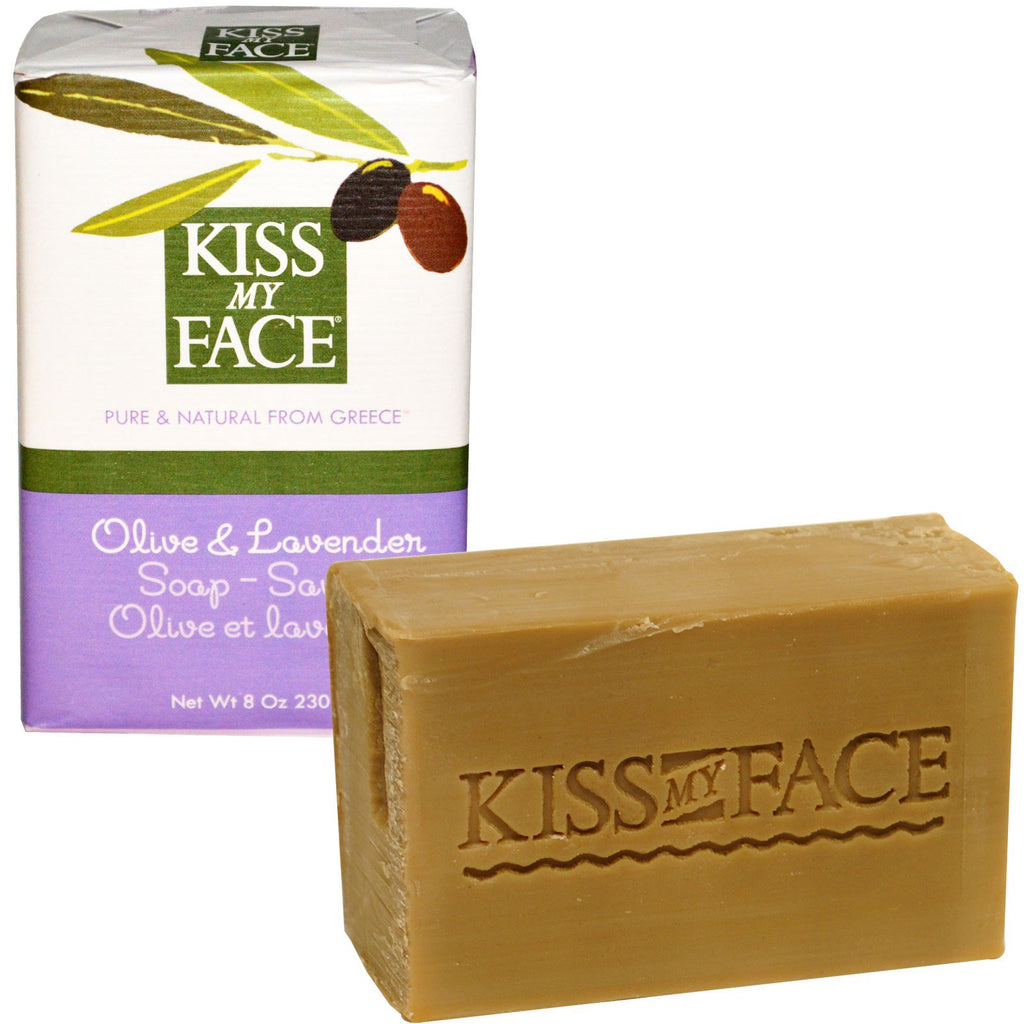 Kiss My Face, Olive & Lavender Soap Bar, 8 oz (230 g)