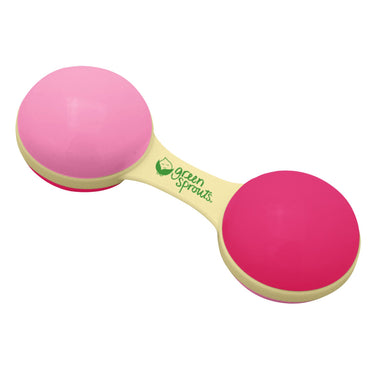 iPlay Inc., Cornstarch Dumbbell Rattle, Hot Pink Color
