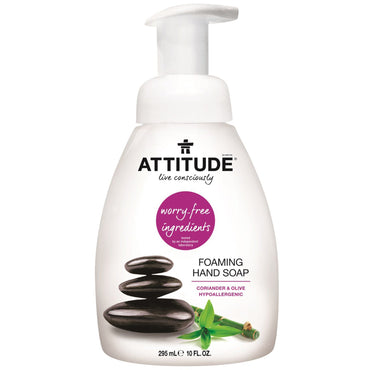ATTITUDE, Foaming Hand Soap, Coriander & Olive, 10 fl oz (295 ml)