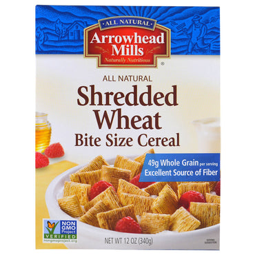 Arrowhead Mills, Shredded Wheat, Bite Size Cereal, 12 oz (340 g)