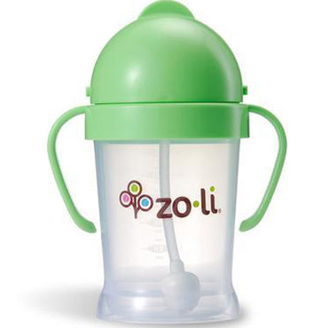 Zoli, Bot, Straw Sippy Cup, Green, 6 oz