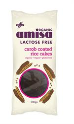 Lactose Free Carob Coated Rice Cakes Organic 100g (order in singles or 12 for trade outer)