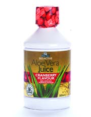 Aloe Vera Juice Max Strength Cranberry 500ml (order in singles or 12 for trade outer)