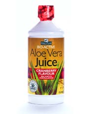 Aloe Vera Juice Max Strength Cranberry 1ltr