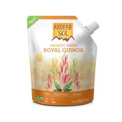 30% OFF Andean Sol Organic White Royal Quinoa 500g (order in singles or 10 for trade outer)