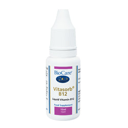 Vitasorb B12 (water solubilised vitamin B12) 15ml (order in singles or 12 for trade outer)
