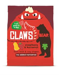 BEAR Claws Strawberry & Butternut 18g (order 18 for retail outer)