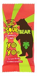 BEAR Super Sour Strawberry & Apple Yoyo 20g (order 18 for retail outer)