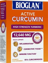 Bioglan Active Curcumin. High strengthTurmeric 30 tablets (order in singles or 24 for trade outer)
