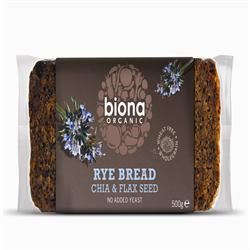 Organic Rye Bread with Chia & Flax Seed