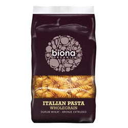 Organic Wholewheat Fusilli 500g (order in singles or 12 for trade outer)