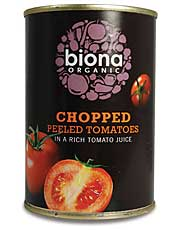 Organic Chopped Tomatoes 400g (order in singles or 12 for trade outer)
