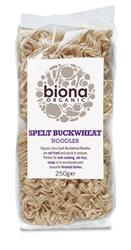 Organic Spelt Buckwheat Asia Noodles 250g (order in singles or 12 for trade outer)