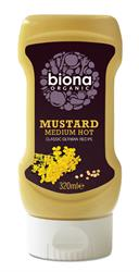 Org Mustard Medium Hot - Classic German - No added sugar 320ml