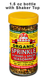 Bragg Organic Sprinkle - 24 Herbs & Spices Seasoning 42.5g (order in singles or 12 for trade outer)