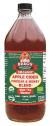 Bragg Organic Apple Cider Vinegar & Honey Blend 473ml (order in singles or 12 for trade outer)