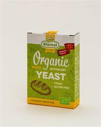 BIOREAL Organic Active Dry Yeast, 5x9g, gluten-free, vegan (order 8 for retail outer)