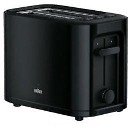 BRAUN Toaster | 2 Slice | Black | Comfort Lift | 7 Brown