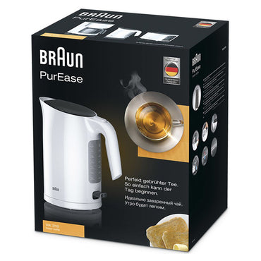 BRAUN Kettle | 1.7L | White | Rapid Boil | Easy Fill