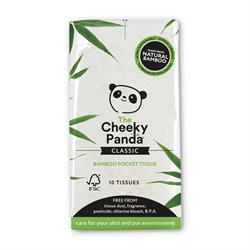 1 pack of 100% bamboo pocket tissue; 10 tissues per pack (order 8 for retail outer)