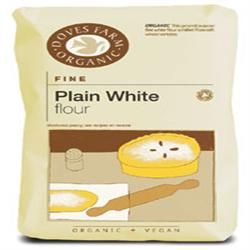 Organic Plain White Flour 1kg (order 5 for trade outer)